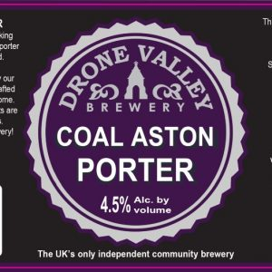 500ml Bottle – Coal Aston Porter 4.5%ABV  + Local Delivery (Members only)