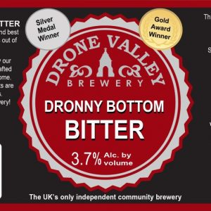 500ml Bottle – Dronny Bottom Bitter 3.7%ABV  + Local Delivery (Members only)