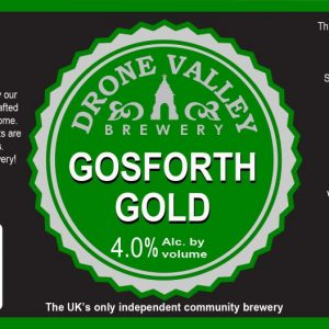 500ml Bottle – Gosforth Gold 4.0%ABV + Local Delivery (Members only)