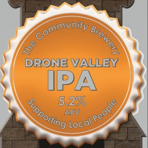 CASK- Drone Valley IPA 5.2% ABV   3 Litre Fridge pack – filled from cask + Local Delivery (Members only)