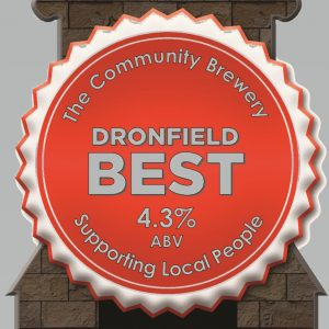 CASK – Dronfield Best Bitter 4.3%ABV  2 Pint Carry out filled from cask + Local Delivery (Members only)