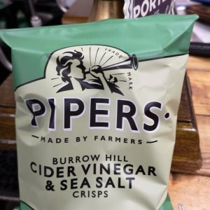 Pipers Crisps Cider Vinegar & Sea Salt 40g Pack