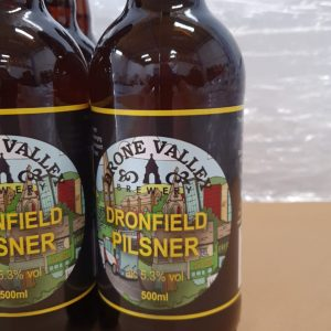 Bottle – 500ml  Dronfield Pilsner 5.3%ABV